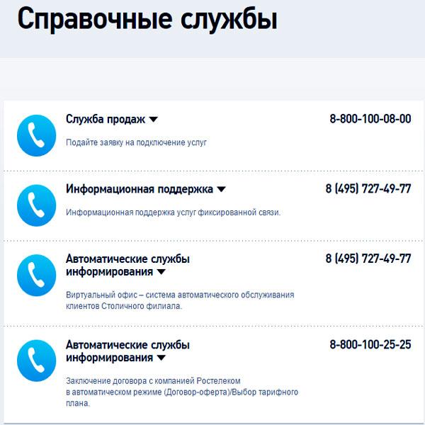 справочная как позвонить из мобильного