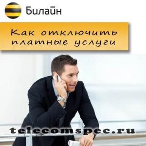 Отключаем платные услуги Билайн
