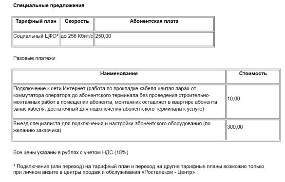 Тариф Социальный от Ростелеком – дешевый интернет для жителей ЦФО и регионов