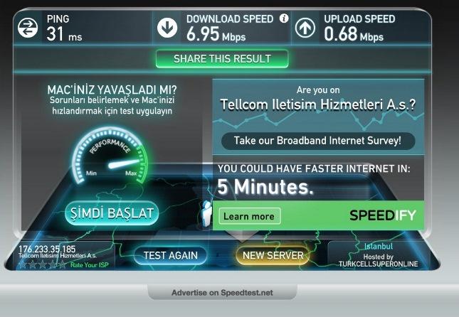 Способы проверки скорости интернета от Ростелеком
