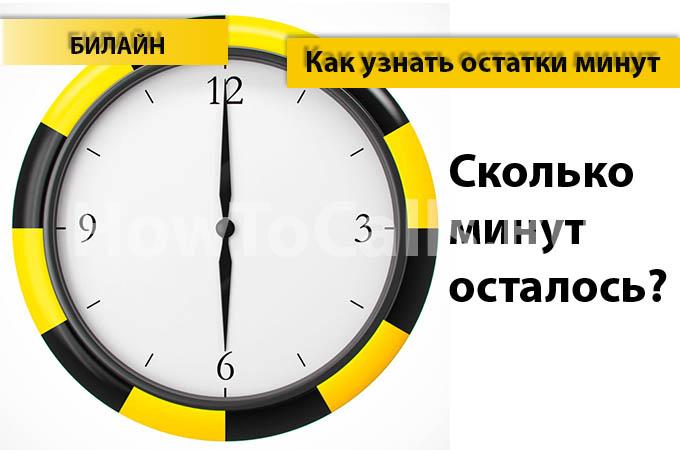 Как узнать остаток минут на Билайне - 5 способов проверить остаток минут на Билайне