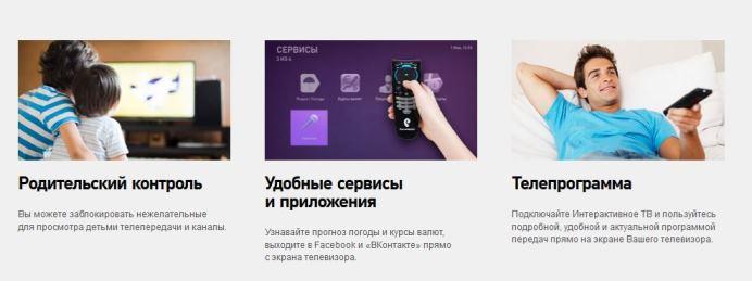 Тарифы кабельного телевидения от Ростелеком