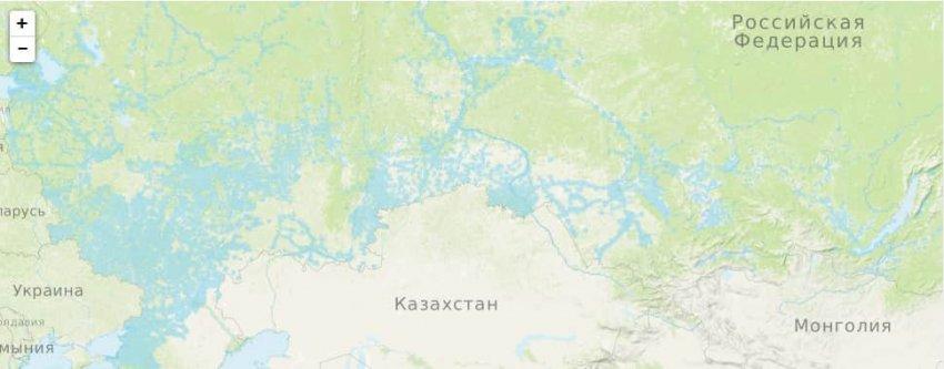 Карта зоны покрытия мобильной связи и интернета Ростелеком
