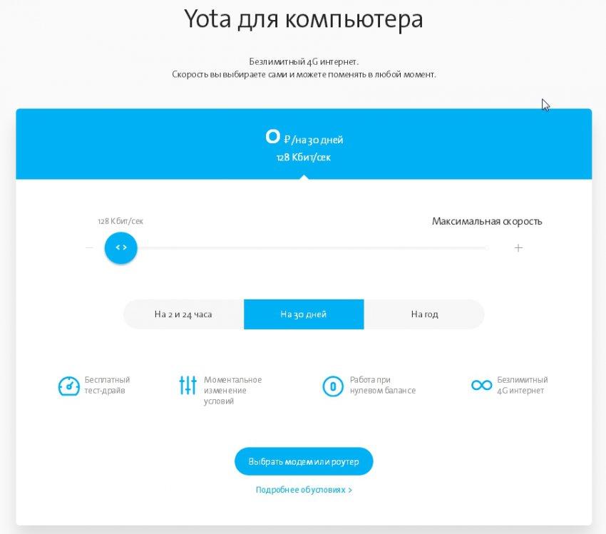 Yota в городе Вытегра, тарифы, отзывы, зона покрытия