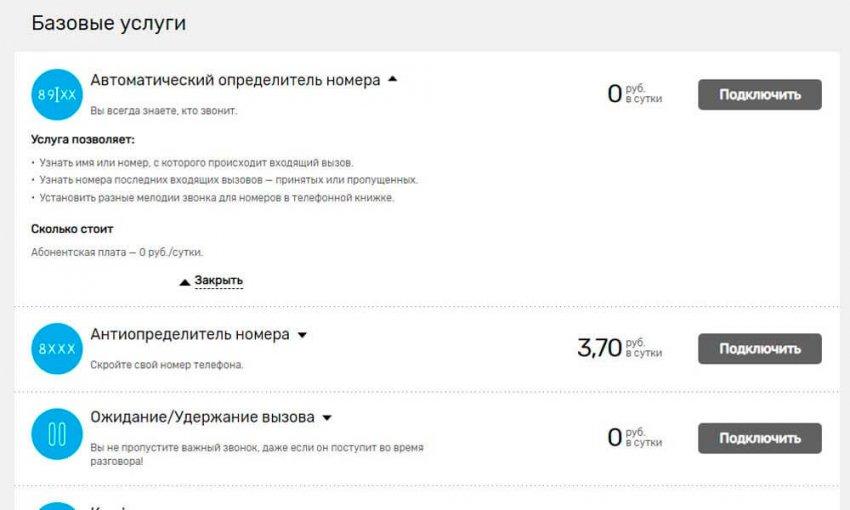 Услуга «АОН» Ростелеком – описание, подключение и стоимость